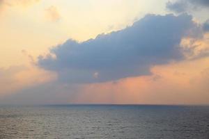 ciel avec nuages et soleil, beau ciel photo