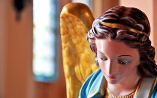 Sculpture d'angle à l'église Mother Mary à Chanthaburi, Thaïlande