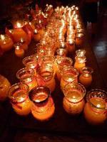bougies dans le temple