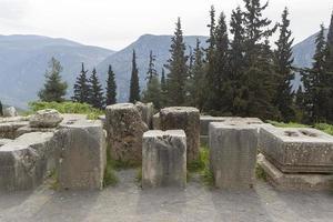 Le temple d'apollon à delphi grèce