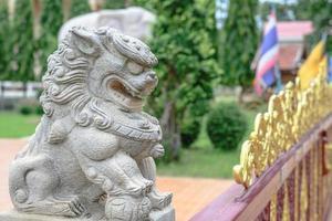 statue de lion chinois