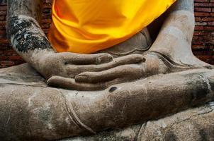ruine de l'ancien temple de Bouddha en Thaïlande