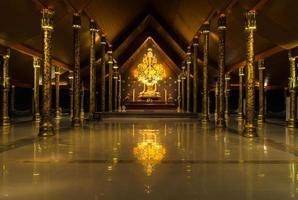 temple sirindhorn wararam phuproud, artistique, thaïlande, public pl