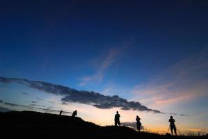 photographe silhouette photo