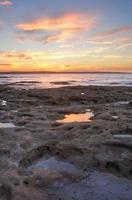 Coucher de soleil depuis la plage de Murrays Jervis Bay photo