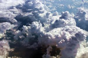 vue aérienne de beaux nuages