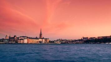 coucher de soleil d'automne de stockholm