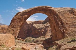 Randonneurs à arc en ciel, parc national des arches, utah photo
