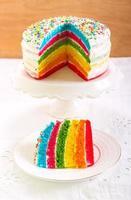gâteau arc-en-ciel photo
