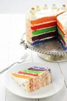 gâteau arc-en-ciel en couches photo