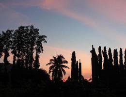 coucher de soleil sur la station chumphon