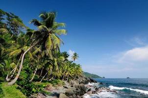 Côte des Caraïbes colombiennes près de la frontière panama