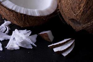 noix de coco - texture gros plan