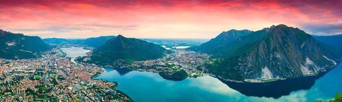 panorama de la ville lecco. photo