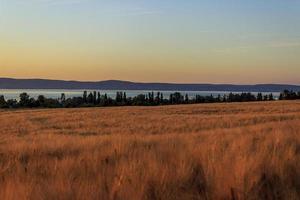 coucher de soleil au lac balaton