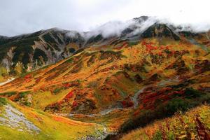 la route alpine tateyama kurobe de l'automne