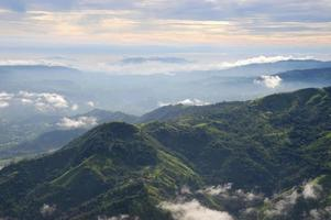 Vue aérienne de l'ouest du costa rica