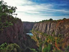 Vue sur le canyon de velka amerika en tchèque photo