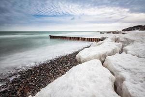 hiver sur la mer baltique