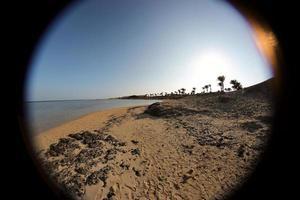 Plage de sable à Marsa Alam, Egypte