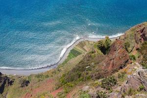 Falaises de gabo girao à l'île de madère, portugal