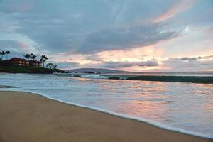 coucher de soleil plage de l'état de wailea