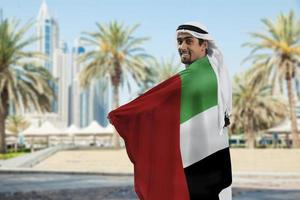 mâle, tenue, drapeau photo