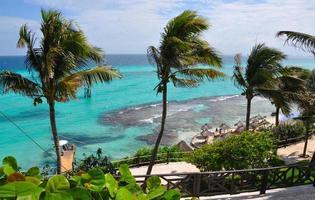 parfait paysage de mer tropicale. île isla mujeres photo
