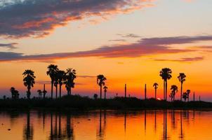 coucher de soleil sur le lac manze photo