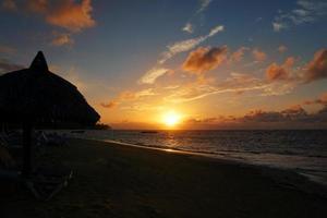 paysage marin, coucher de soleil, samana, el portillo, république dominicaine photo