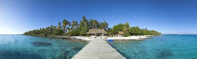 vue panoramique sur l'île paradisiaque photo