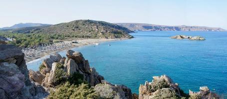 Célèbre plage de palmiers de vai, île de Crète, Grèce