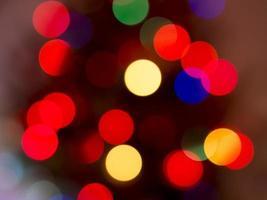 lumières de Noël défocalisées