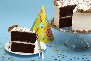 tranche de gâteau photo