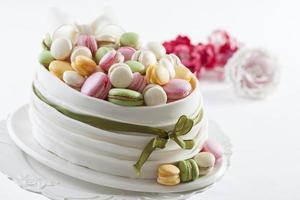 bonbons macarons colorés photo