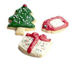 Noël donnant des biscuits
