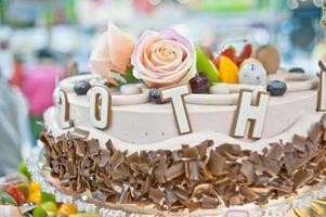 gâteaux d'anniversaire, conception de pâtisseries photo