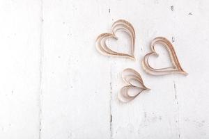 découpe en forme de coeur coeurs st valentines