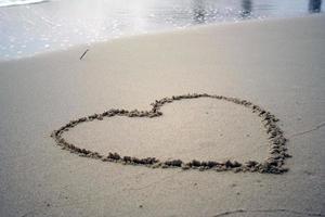 coeur plage photo