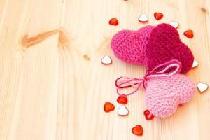 coeurs tricotés mignons photo