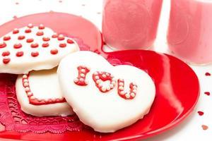 biscuits décorés de la Saint-Valentin