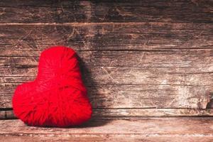 coeur de fil rouge photo