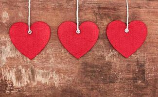 cœurs pendentifs en textile photo