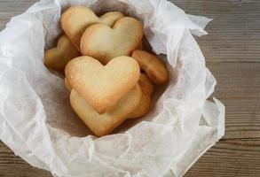 biscuits en forme de coeur photo