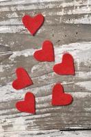 petits coeurs rouges photo