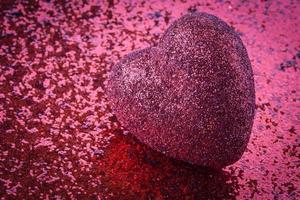 coeur avec fond de paillettes pour la saint valentin