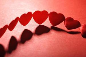cœurs textiles photo