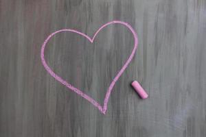 dessin à la craie en forme de coeur photo