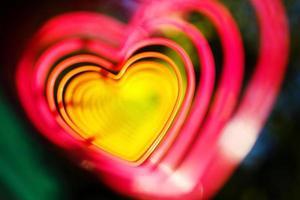 photo coeur abstrait, flou artistique, fond de carte de voeux