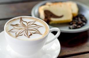 art de la mousse de latte photo